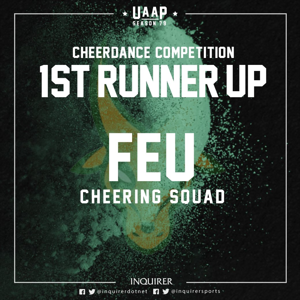 #UAAPCDC79 first runner-up: FEU Cheering Squad! #ShowTAM