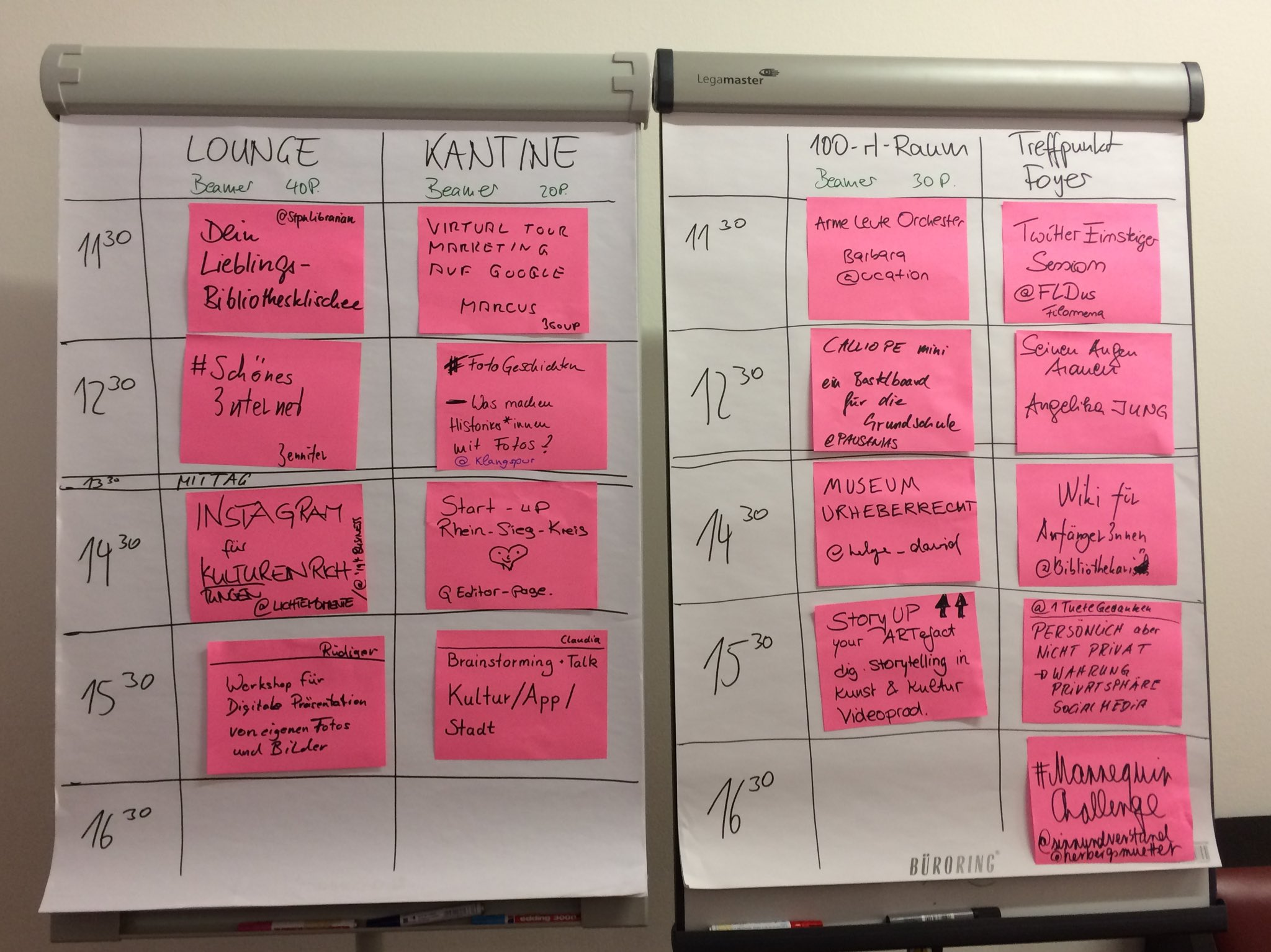 Der Session-Plan steht :) Und am Ende gibt es eine #MannequinChallenge. Yippie! #sckb16 https://t.co/PrWaxb9dwi