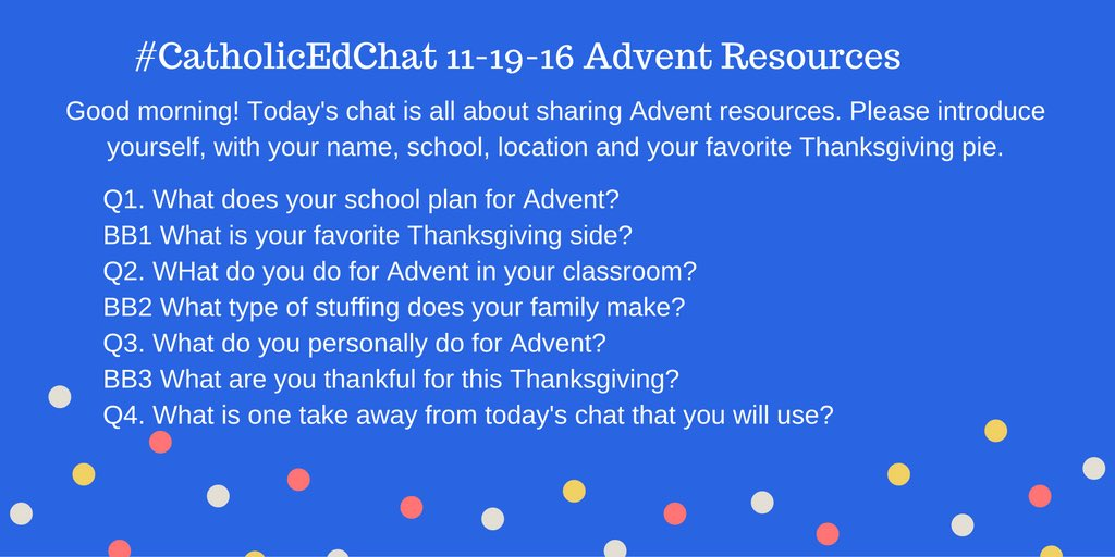 Here are today's #CatholicEdChat questions https://t.co/wzjdfRqF3I