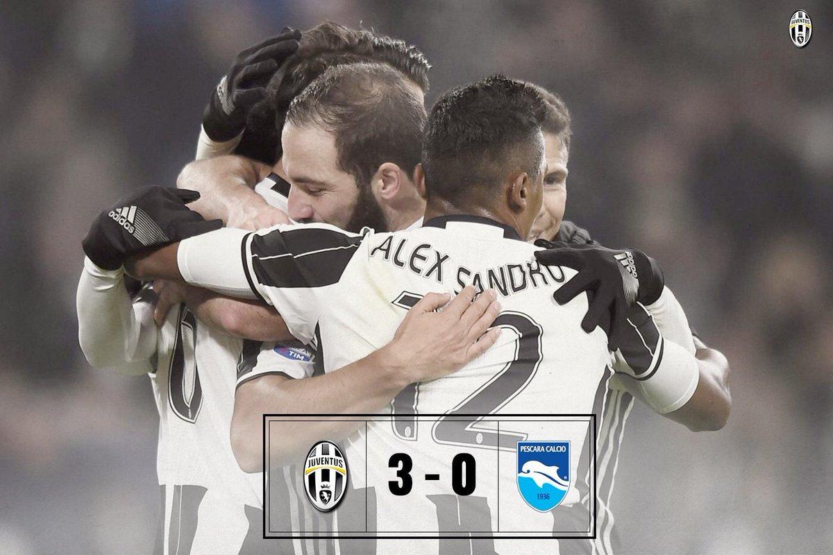 Juventus-Pescara risultato esatto 3-0: gol di Khedira Mandzukic e Hernanes
