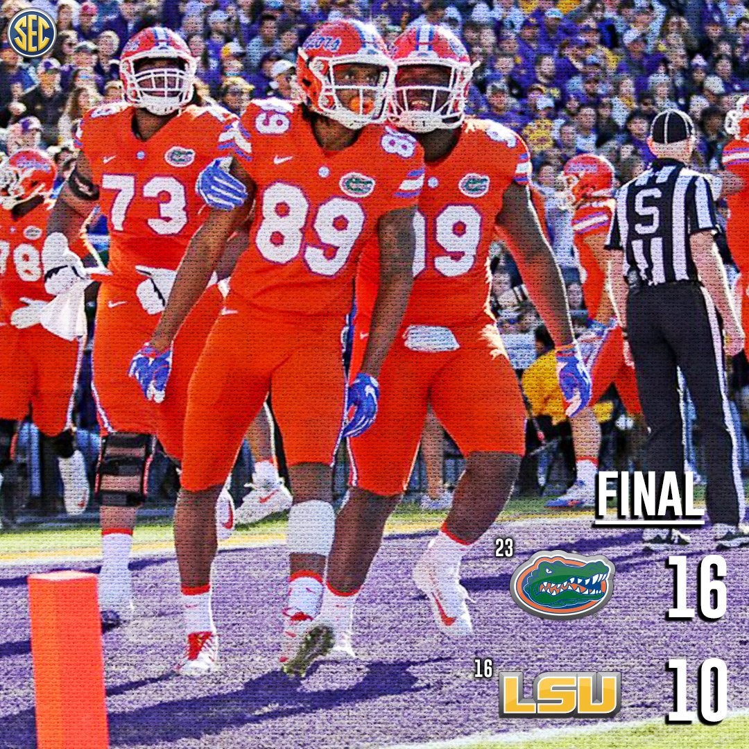 With this win, @GatorsFB is ATL bound for #SECChamp25!   The FINAL from #UFvsLSU: https://t.co/4MNilnf6Co