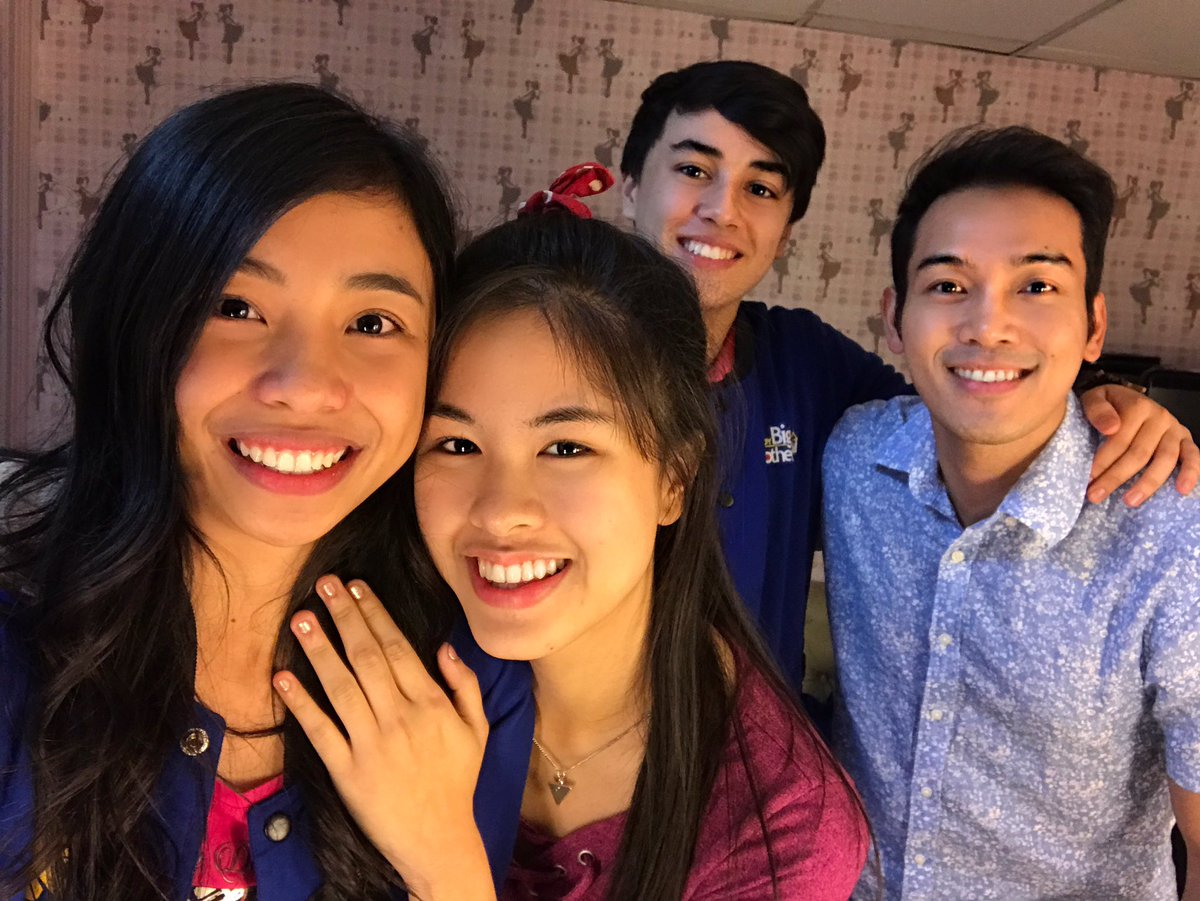 Excited silang magselfie. Congrats lucky 3 teens. Proud of these bunch! #PBBLucky3Teens #kisses #edward #maymay https://t.co/AsoLA1u1Ev
