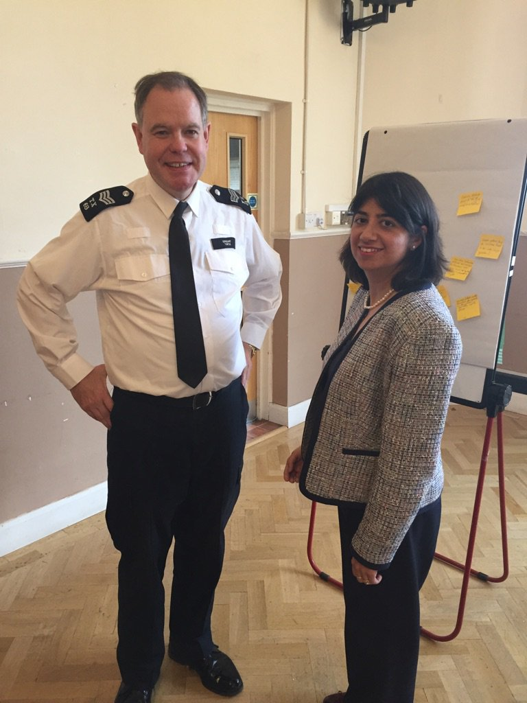 Seema Malhotra and police Officer in Hounslow West
