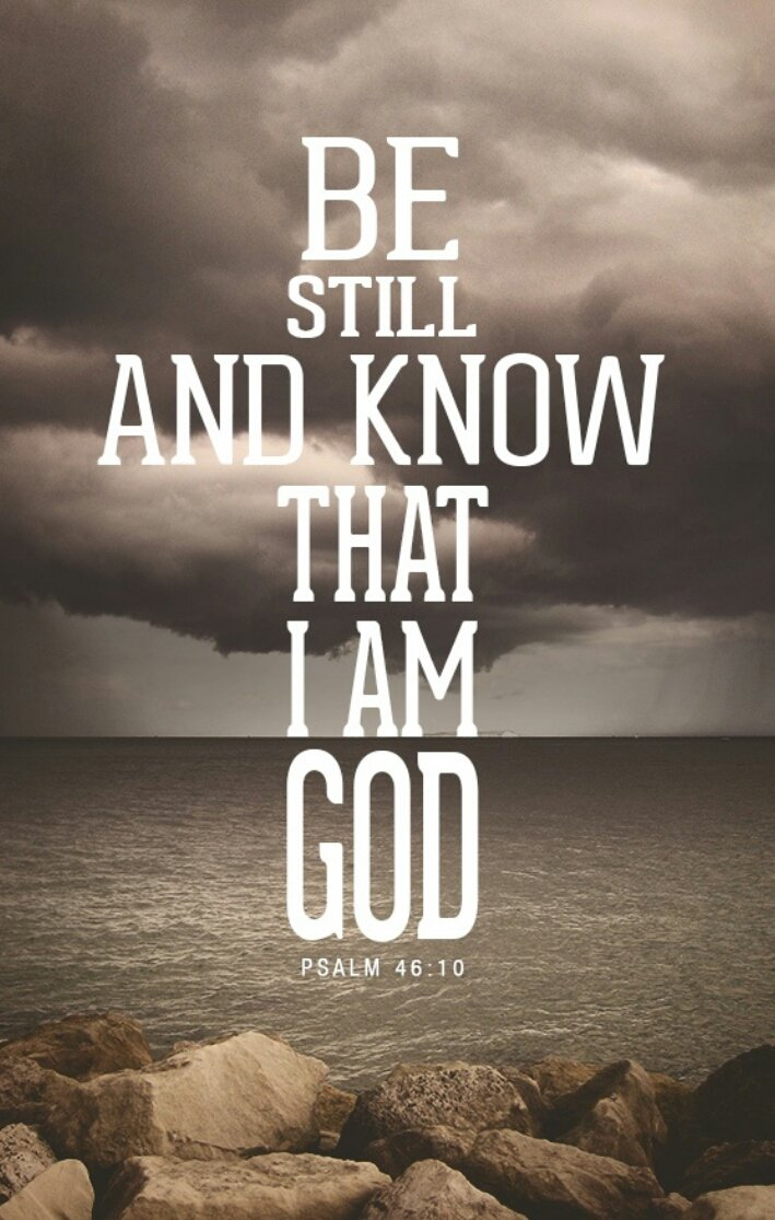 Be still and know that I AM https://t.co/1eEZpEwVNX