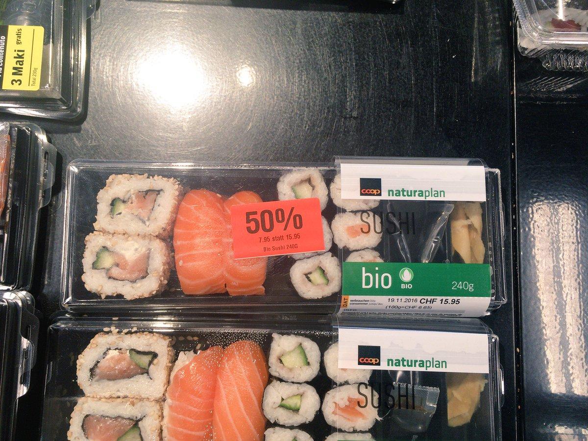 ヨーロッパ圏にも半額寿司は存在する https://t.co/oCRgsTc3tS