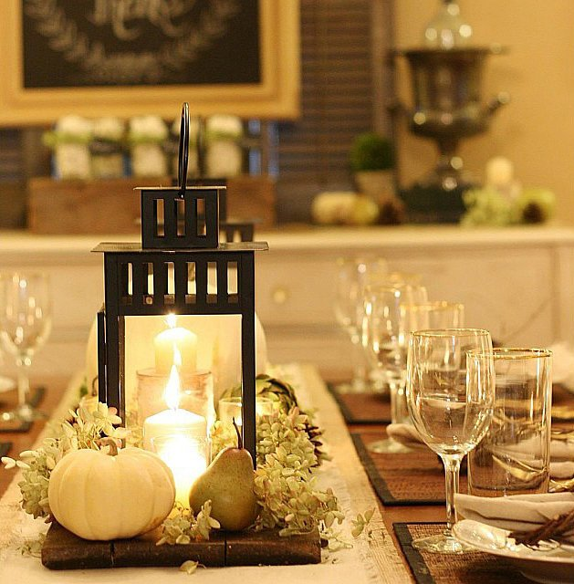 Decorate a Thanksgiving table that will WOW with these tips >> DIY Centerpiece