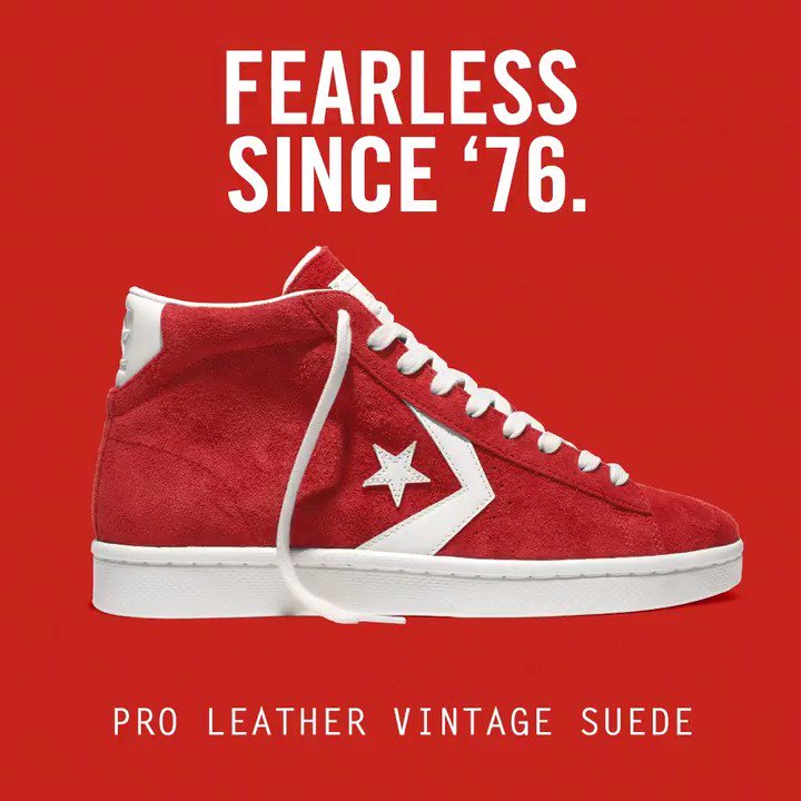 8744a8b2653e converse pro leather vintage suede 40th anniversary edition in select  stores amp online monday weekofgreatness .