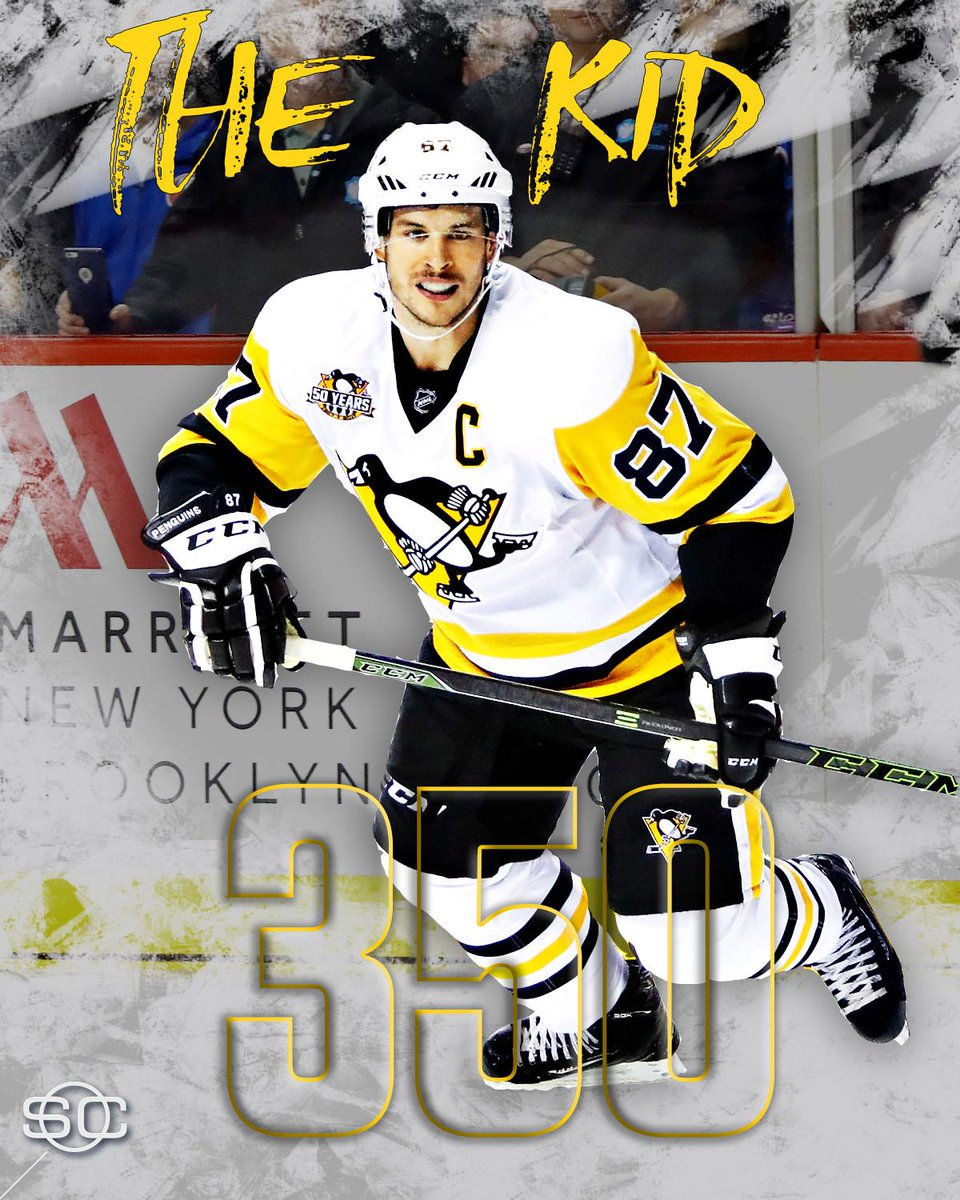 834ded7b3 The Kid notches another milestone. Sidney Crosby scores his 350th career  goal vs Sabres.