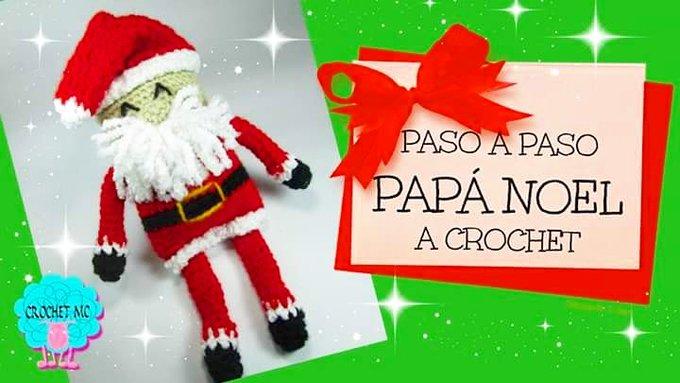 tutorial de Pap Noel a crochet Click aqu navidad PasoAPaso ganchillo