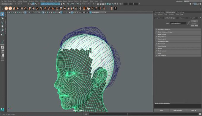 Creating Braids & Buns using Ornatrix in Maya 3d cgi animation vfx maya tutorial