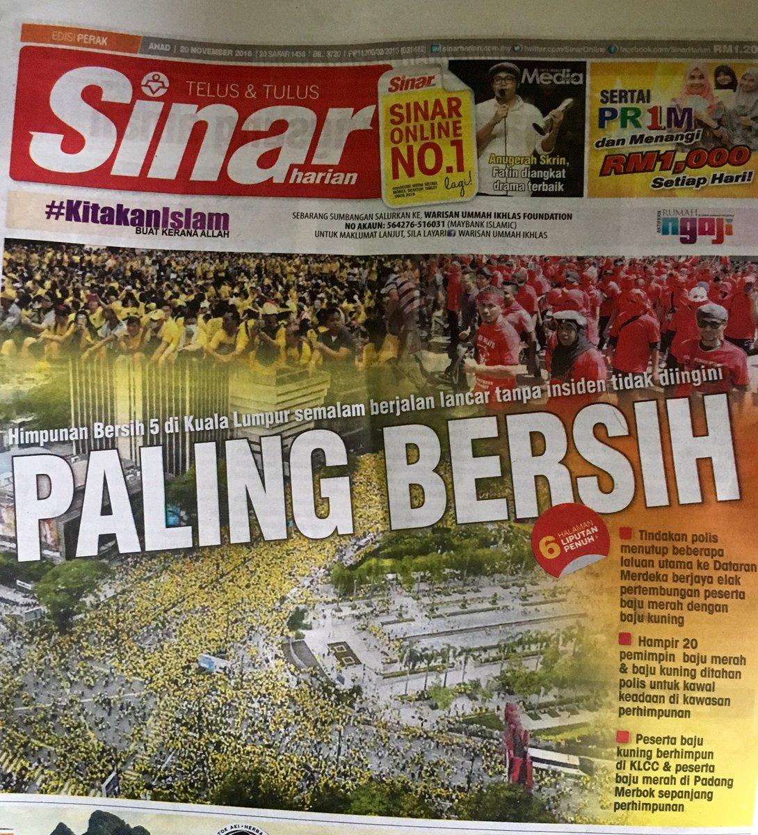 Paling Bersih. Terima kasih rakyat Malaysia. @mbnizar @dapmalaysia @bersih2 @n_izzah @cmlimguaneng https://t.co/AlZVPmh8Ka