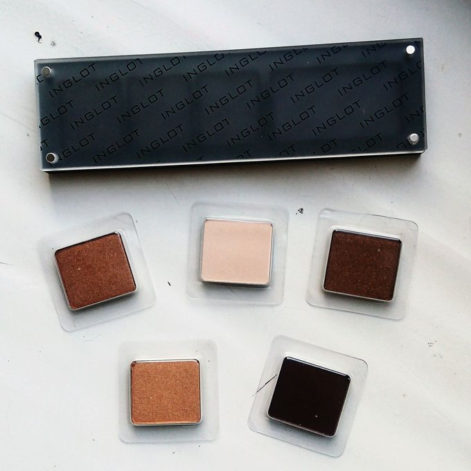My first full INGLOT Freedom System Palette makeup eyeshadow bbloggers