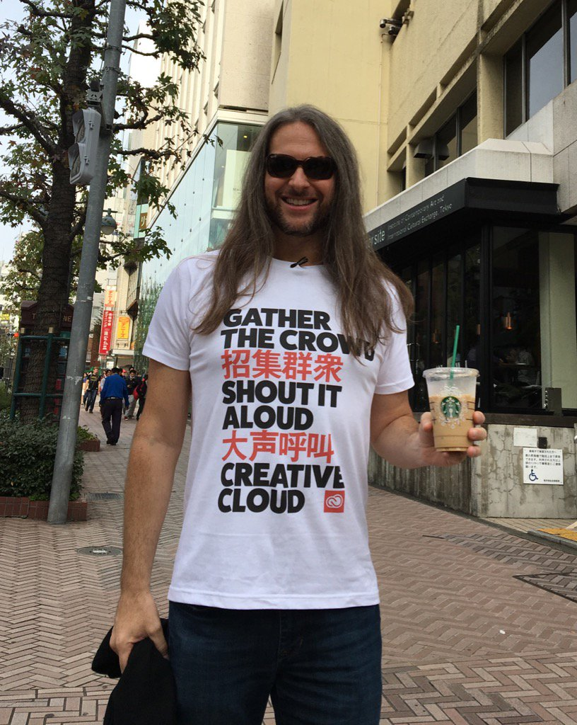 """#OnLocation in #Tokyo shooting an episode of """"Jase's Places"""" (in my new, fave shirt) https://t.co/YChHh3KhES https://t.co/Azh6EtkvAE"""