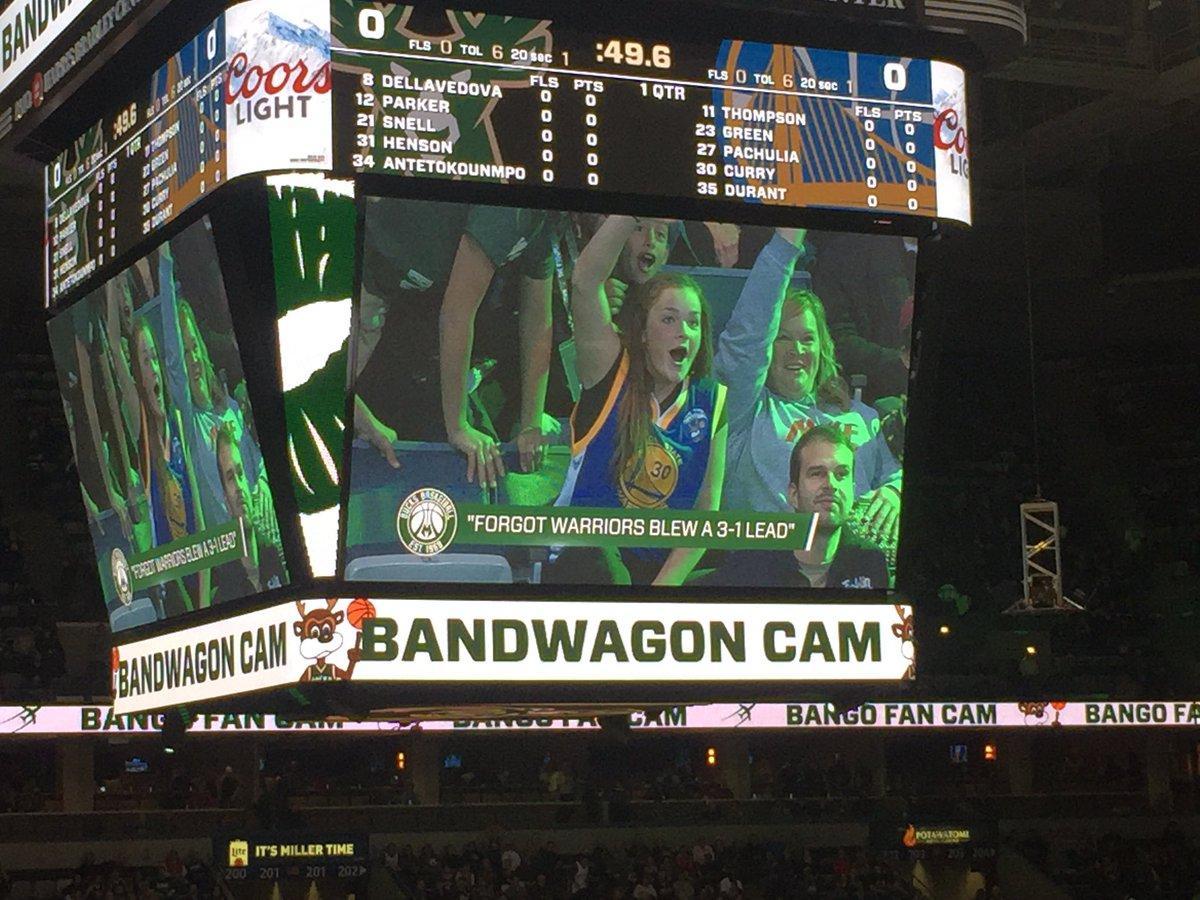 Beware the Milwaukee Bucks' jumbotron. (via @anthonyVslater)