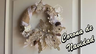 Corona de navidad hecha con papel. Decorando la Navidad DIY Deco
