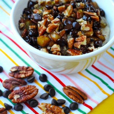 Pear, Pecan and Dark Chocolate Porridge