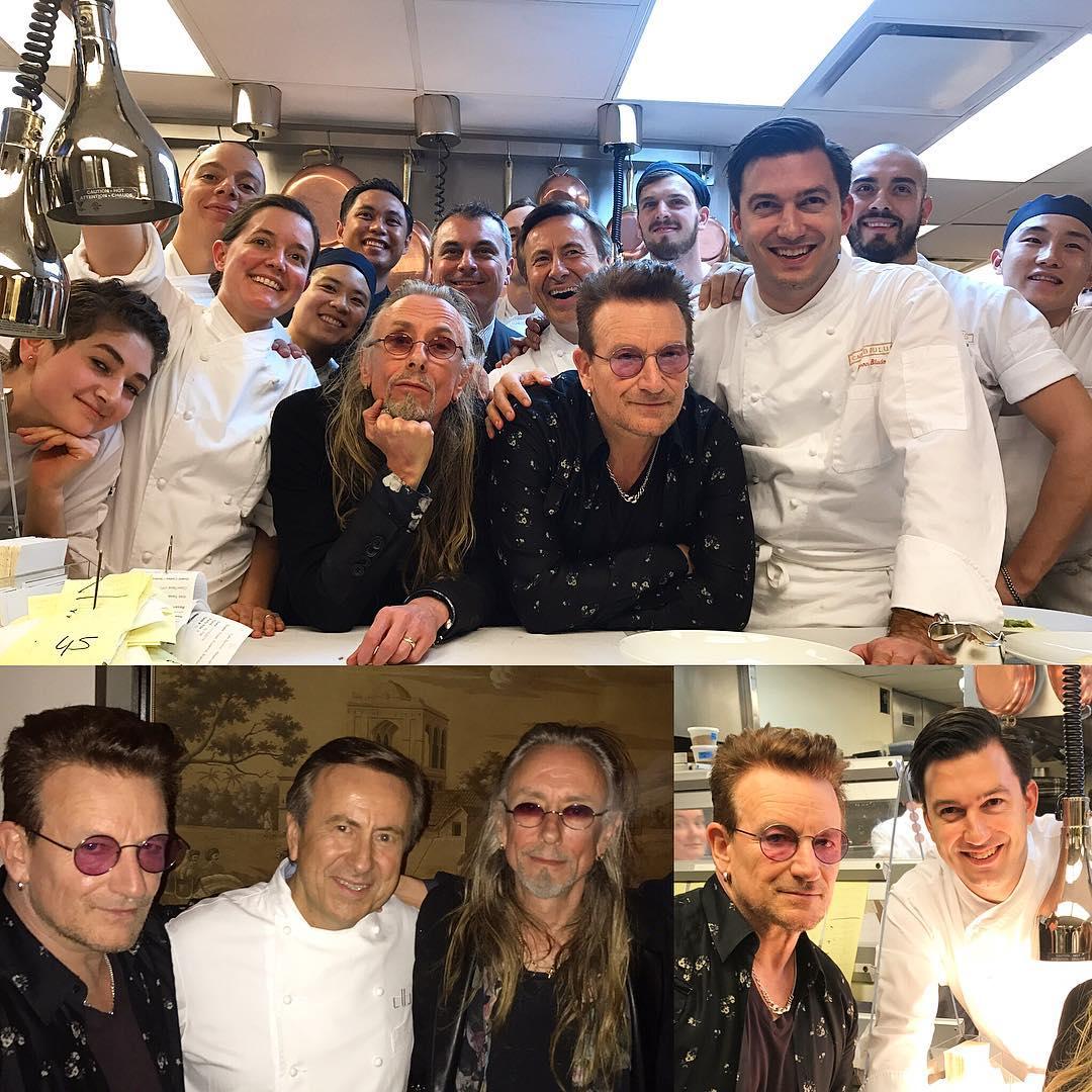 7a6f15831bf #Bono & #Guggi last night with team of #Cafebouludny in #NewYork Nov19