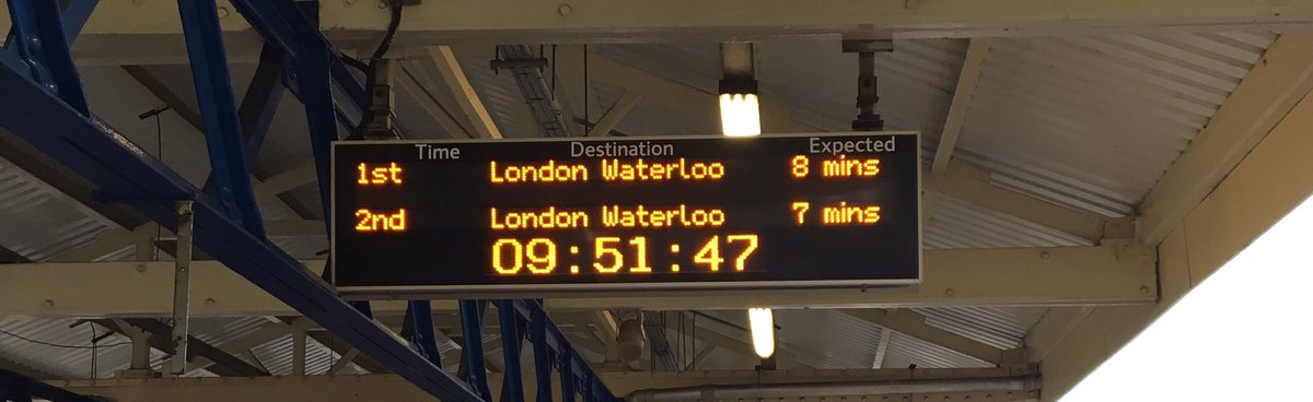 SW Trains laugh in the face of the linear progress of time https://t.co/QkWxZmLPYY