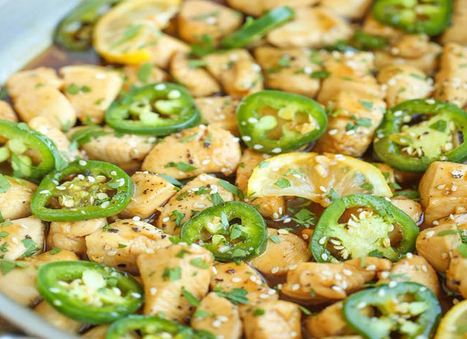 Chicken with jalapeno & soy sauce