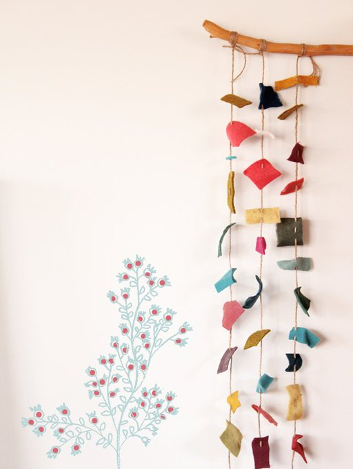 A great idea for using up scraps of felt, by Geninne's Art - tutorial felt craft
