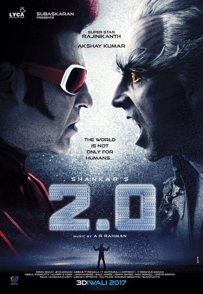 The Master coming with a double bonanza... Next Diwali will be even louder! Can't wait... #2point0 https://t.co/svieVVVOi7