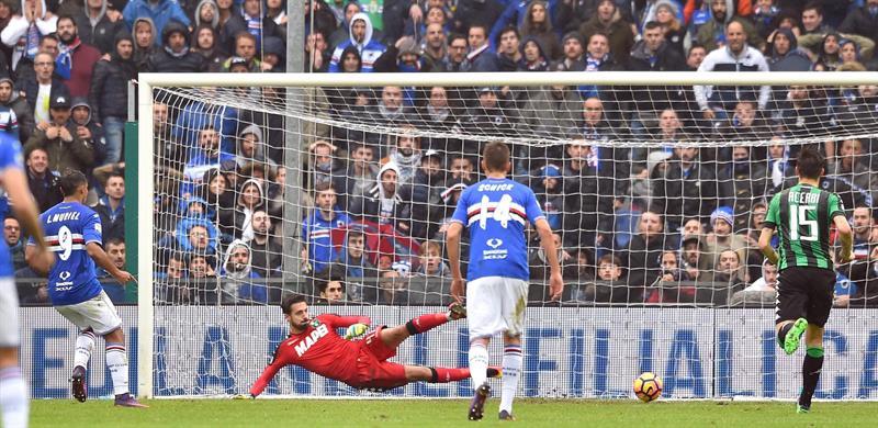 Sampdoria-Sassuolo 3-2: incredibile rimonta con Quagliarella e doppietta di Muriel - VIDEO