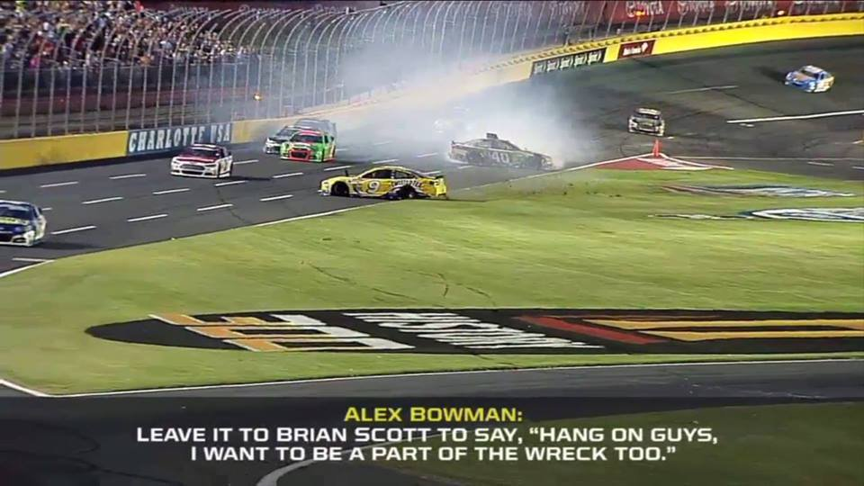 #ThankYouBrian for the....um, memorable career. #44ever #NASCAR https://t.co/lvkxNby7PN
