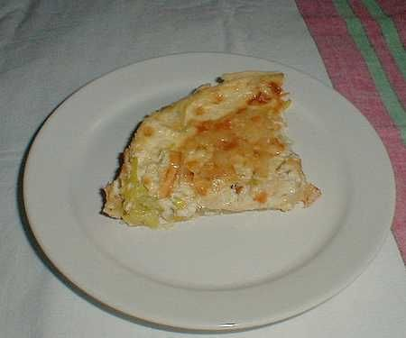 Leek flan a French recipe
