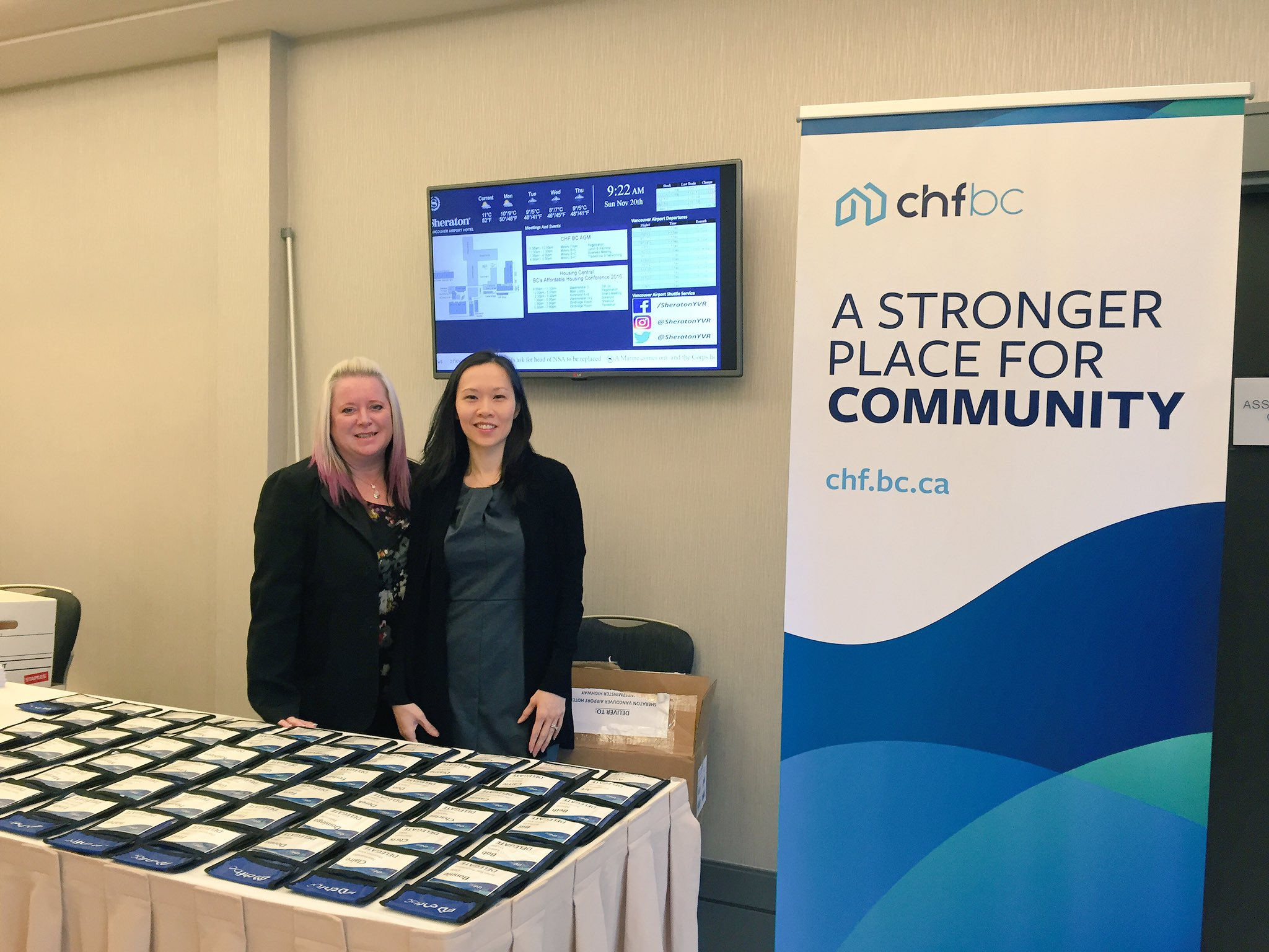 All checked in! Our team is looking forward to meeting you at the AGM today in @SheratonYVR👋🏻#HousingCentral https://t.co/SMHb18UelQ