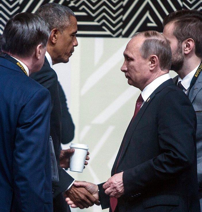 """Путин и Обама """"совсем кратко"""" переговорили на саммите АТЭС, - Песков - Цензор.НЕТ 2443"""
