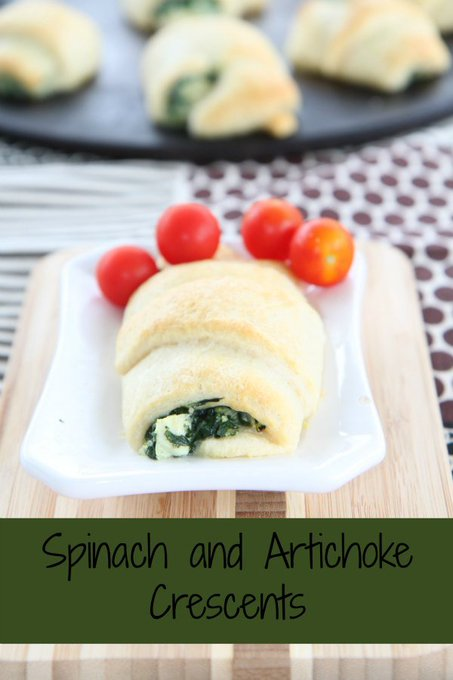Spinach and Artichoke Crescents