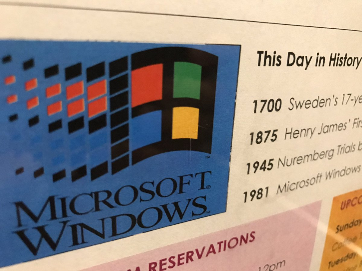 This day in history: Windows 1.0 came out in '81 https://t.co/EgV23c35rb