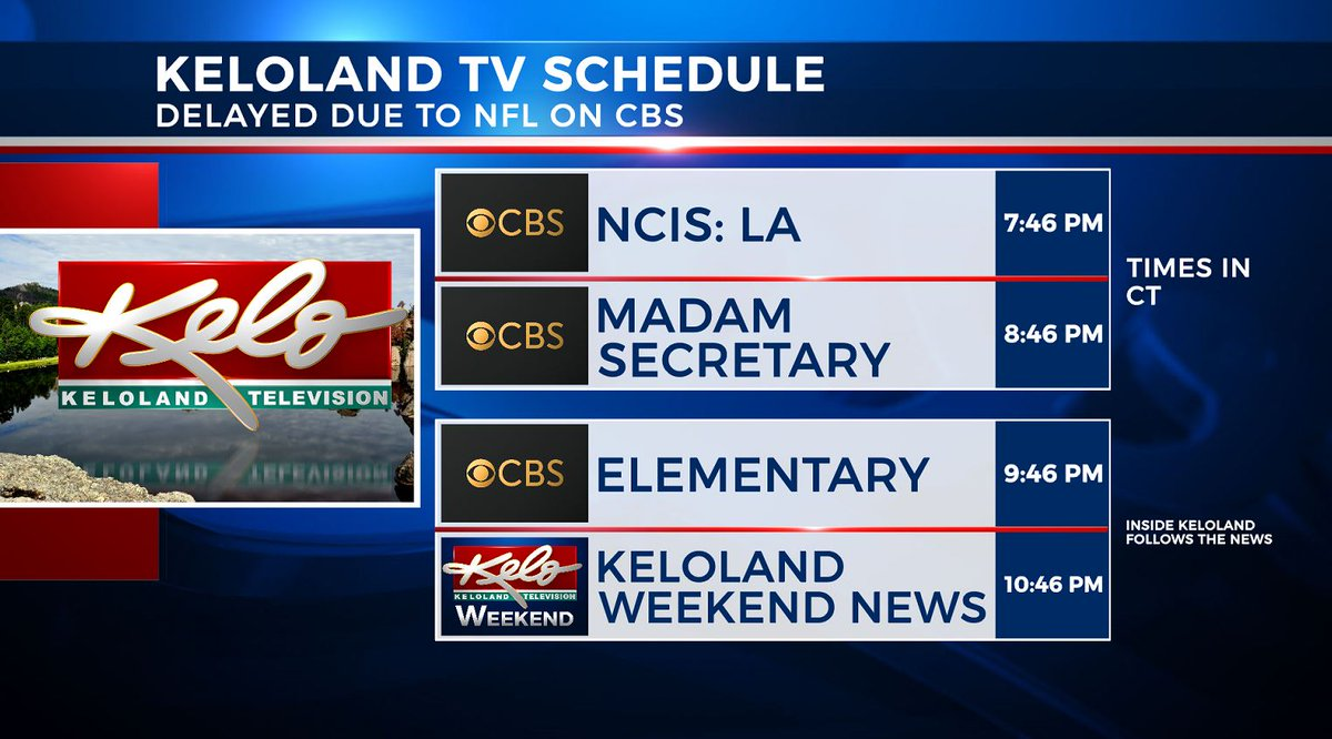 "keloland news on twitter: ""here's your updated programming schedule"