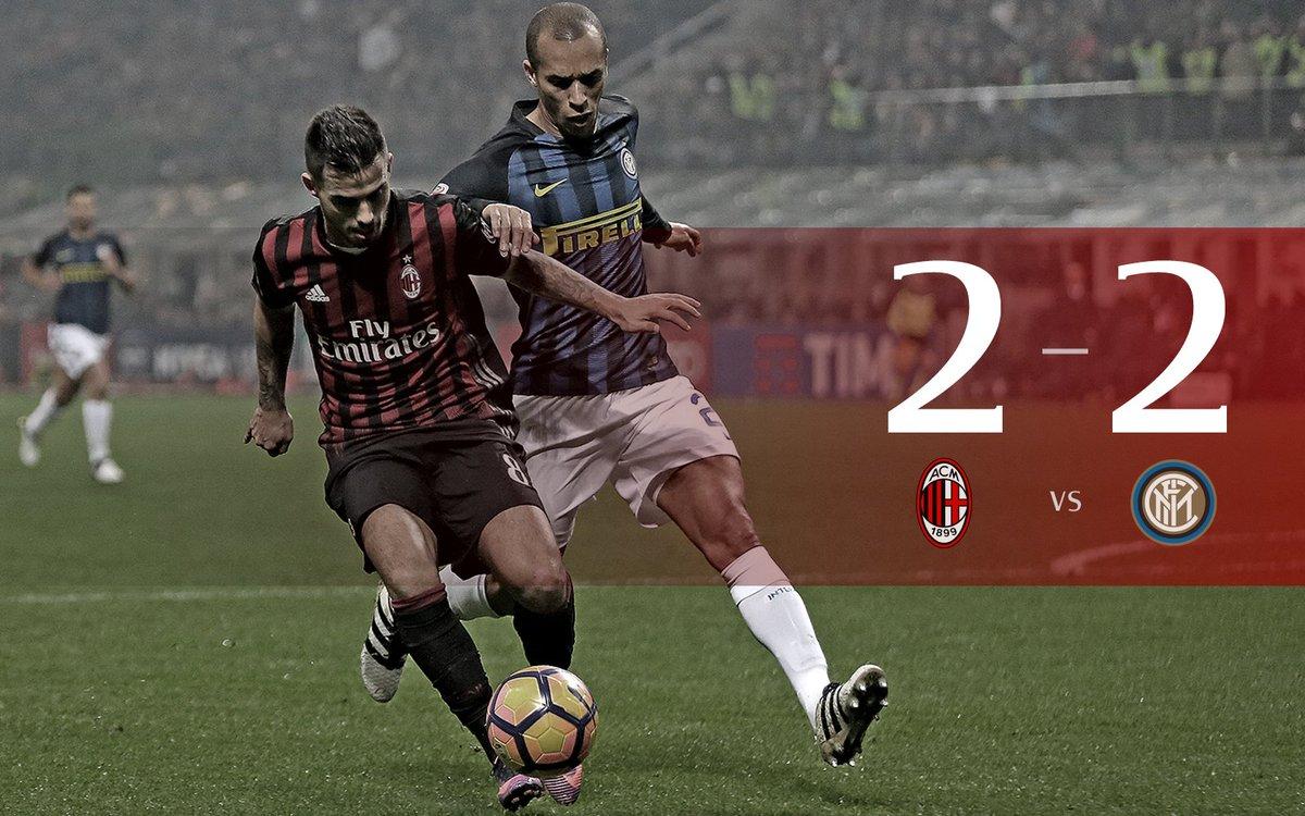 Milan e Inter regalano al pubblico di San Siro uno stupendo Derby: risultato finale 2-2