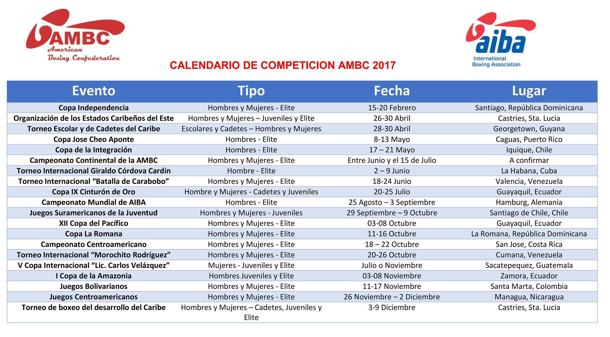 Calendario 2017 Colombia.Ambc On Twitter 2017 Ambc S Competition Calendar