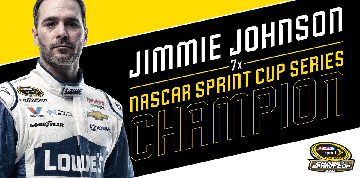 Retweet to congratulate @JimmieJohnson on his SEVENTH championship! #se7en #TheChase