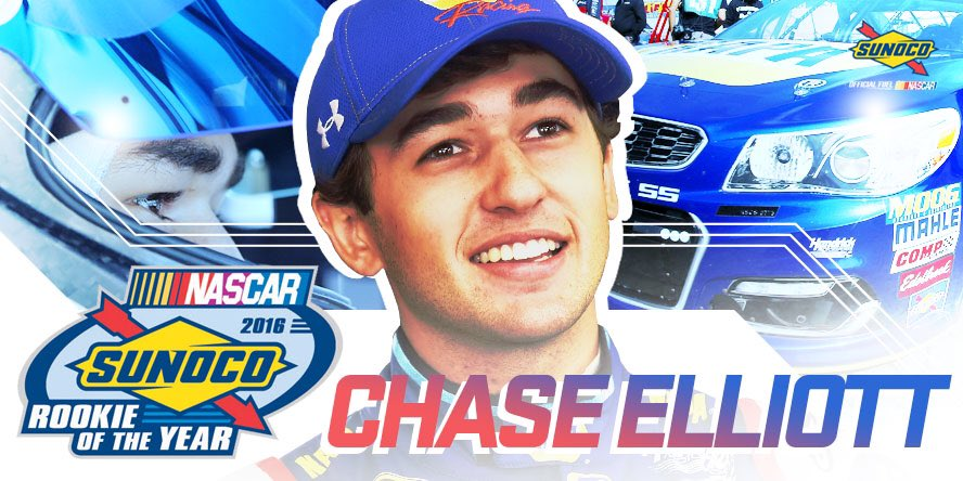 Congratulations, @chaseelliott! It's going to be a pleasure to watch your career for years to come.