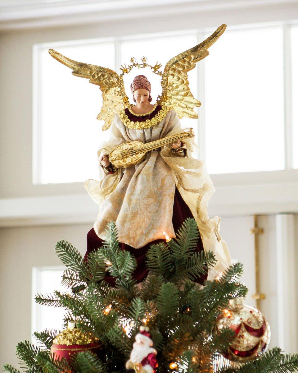 Christmas Tree Angel Decorations: Balsam Hill (@balsamhill)