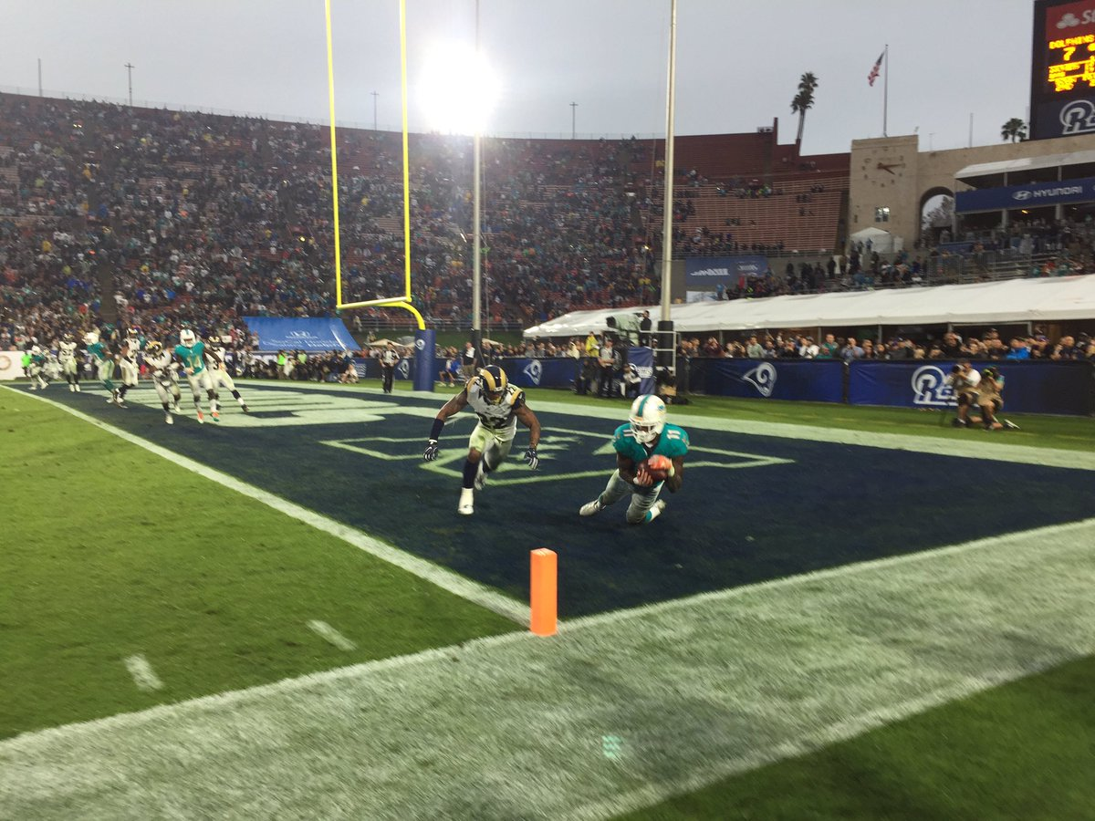 Dolphins winning touchdown first lead with 36 seconds left Watch our post game show live @FOXLA https://t.co/p1BihoMESU