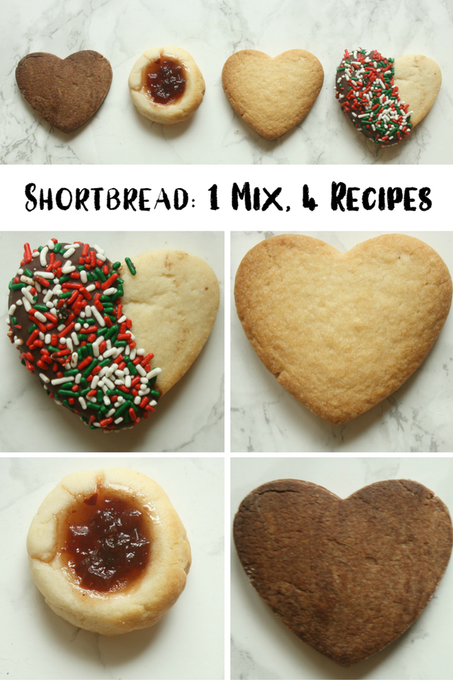 Shortbread: 1 Mix, 4 Recipes