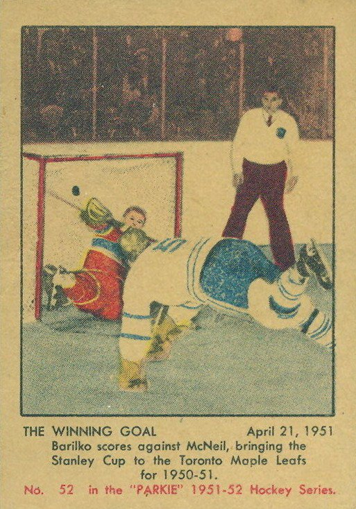 """The one """"real"""" Bill Barilko hockey card. #Leafs #TheHip #50MissionCap https://t.co/NuoW32WYY6"""