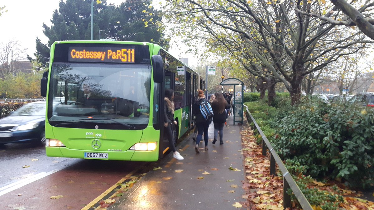 Temporary changes to Costessey Park & Ride services 510 and 510