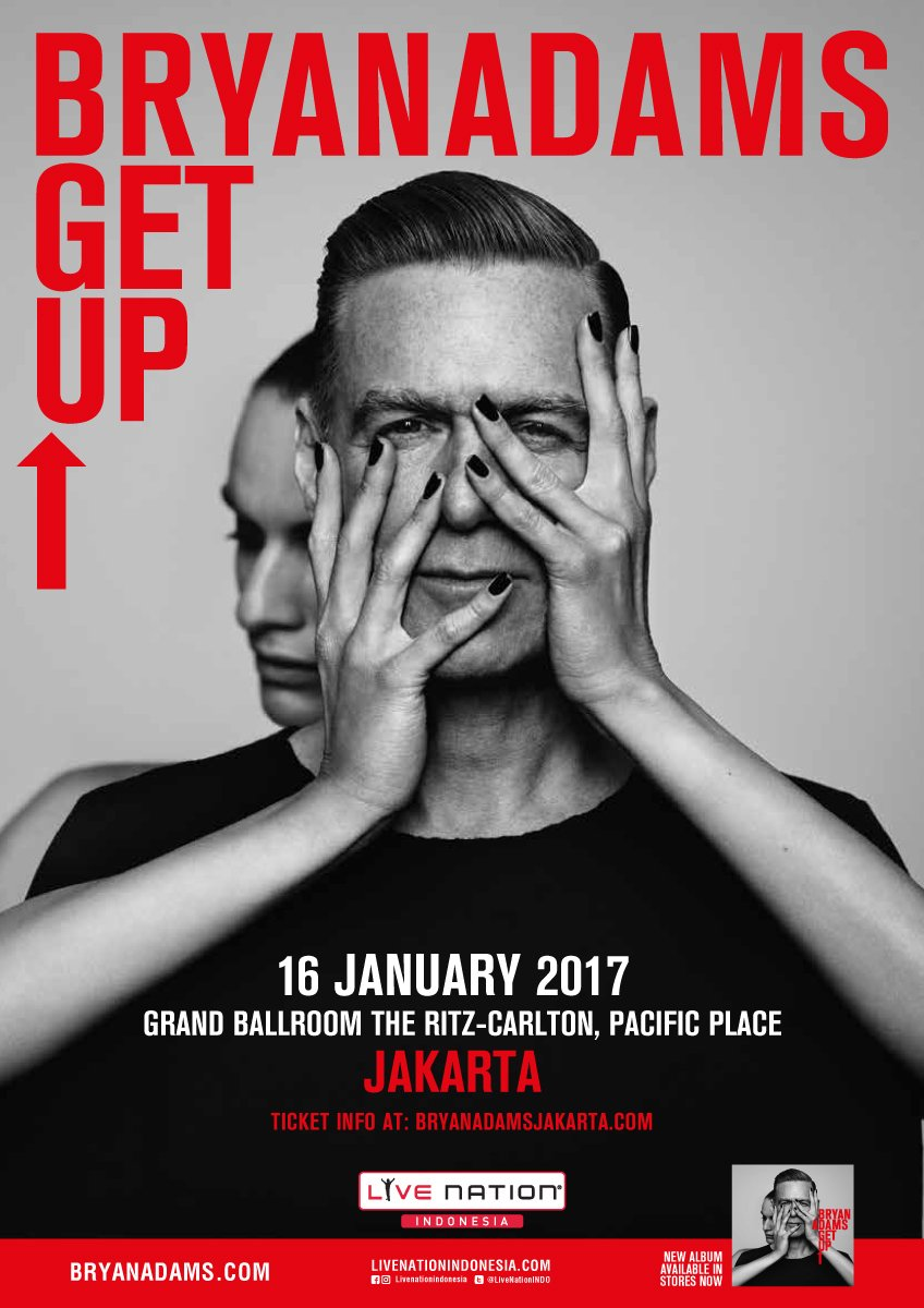 Are you ready to meet & sing along with Bryan Adams? #GetUpTourIndo tickets are selling fast! Get yours at https://t.co/EplSfEkHzi https://t.co/u0VKPiKvUZ