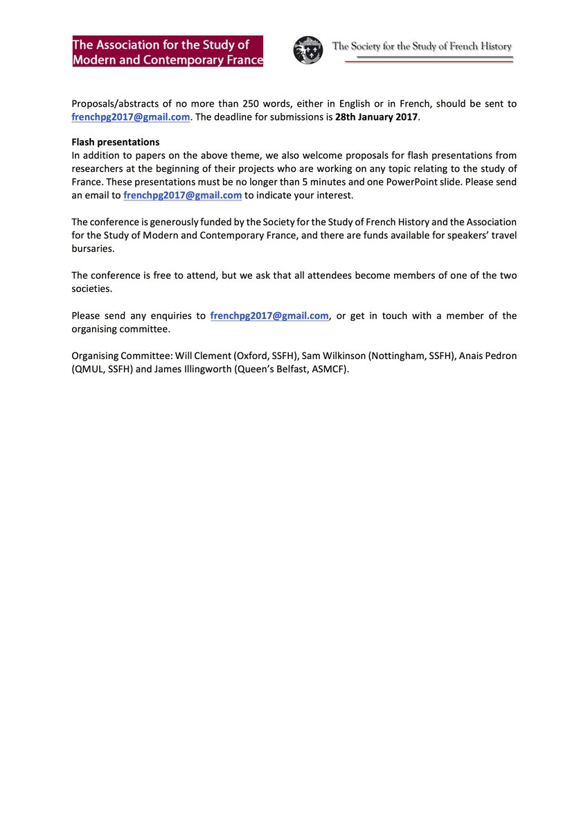 Gmail themes not working 2017 - Will Clement On Twitter Excited To Share The Cfp For 2017 S Asmcf Frenchhistoryuk Pg Study Day Uniofnottingham 4 March 2017 Theme