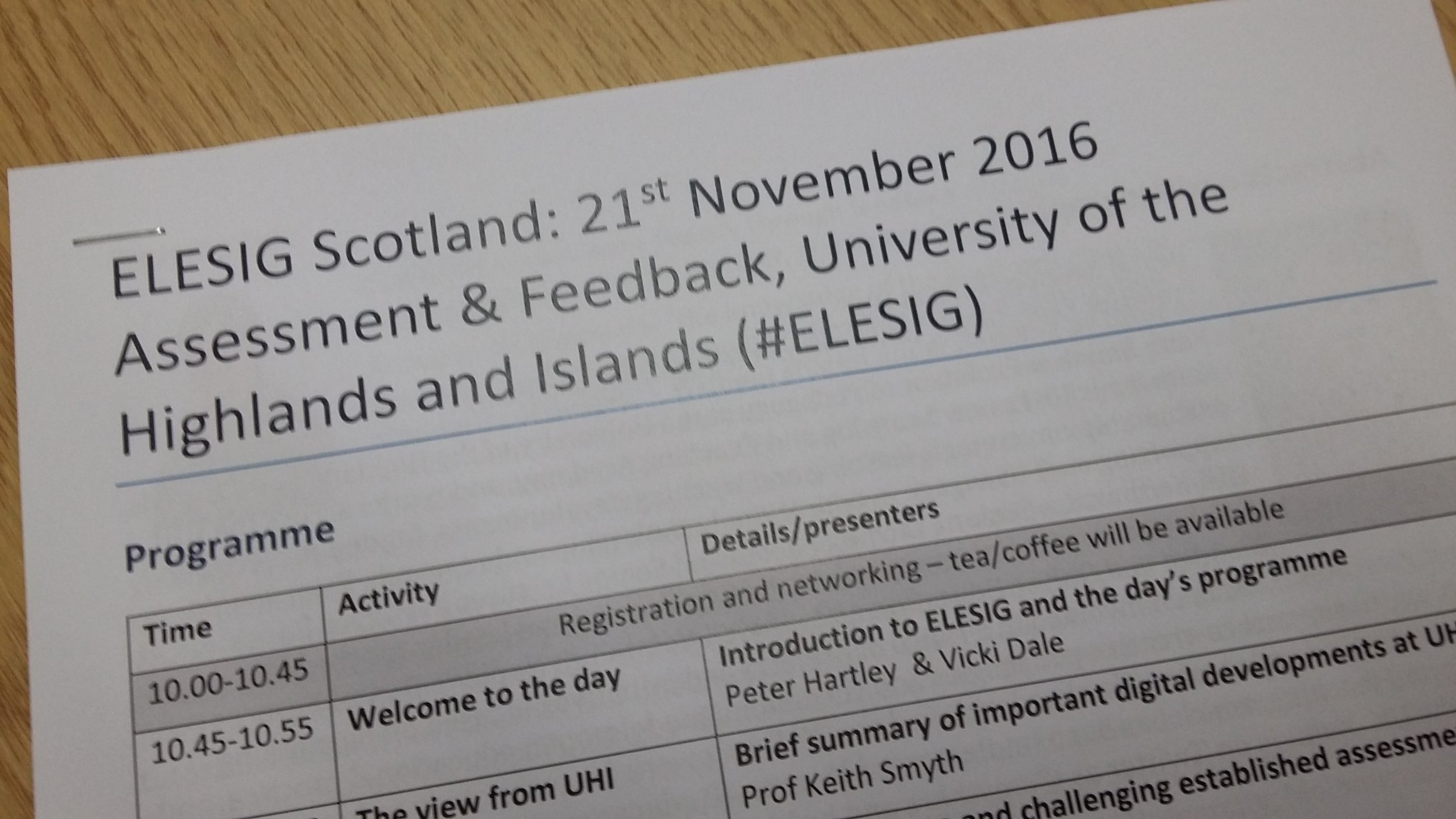 Today the LTA will be tweeting from the #ELESIG Scotland event on assessment and feedback which we're happy to be hosting here @ThinkUHI https://t.co/22f9ynLNJm