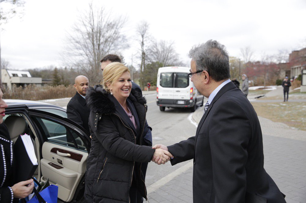 Thumbnail for Waterloo welcomes President of Croatia, Kolinda Grabar-Kitarovic to Campus.
