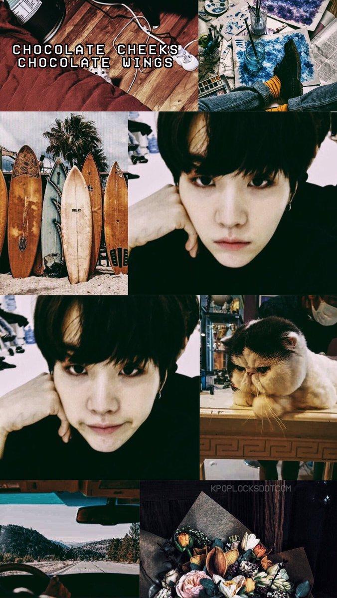Bts Suga Min Yoongi Aesthetic Moodboard Lockscreen