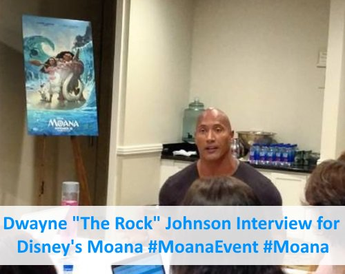 Interview w/ Dwayne #TheRock Johnson for @DisneyMoana - https://t.co/IP0llspkPS #MoanaEvent #Moana #polynesian https://t.co/D1EBBPQN3I