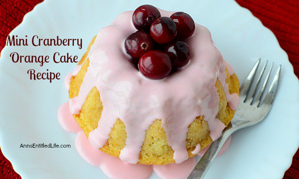 Mini Cranberry Orange Cake Recipe