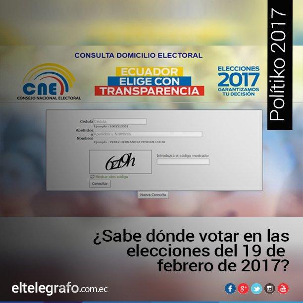 #Elecciones2017Ec   [ATENCIÓN] Puede consultar su lugar de votación en el siguiente enlace ►https://t.co/wy6LQagUvo https://t.co/cRLKX1Agi4